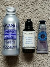 L'Occitane Lot-Lavande Foaming Bath-Relaxing Shower Gel-Shea Butter Hand Cream