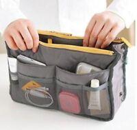 Women Ladies Bag Organizer Handbag Travel Bag Insert Liner Purse Organiser Grey