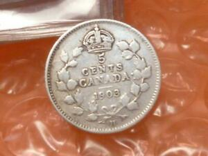 Canada 1903 Silver 5 Cents LARGE 'H' #DD