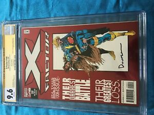 X-Factor #100 red foil - Marvel - CGC SS 9.6 NM+ - Signed by Jan Duursema