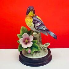 Andrea by Sadek bird figurine statue sculpture vintage Parula Warbler 8627 vtg 2