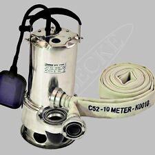 Schmutzwassertauchpumpe/Schmutzwasserpumpe C-Rohr/Schlauch 10 m/Hochwasser pumpe