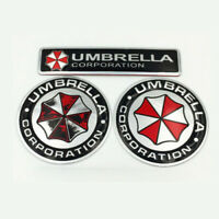3pcs UMBRELLA Corporation Auto Aufkleber 3D Resident Evil Car Emblem Logo