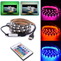 USB LED Light RGB Color 5050 LED Strip Light TV Backlight + Remote Control