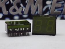 1x RFT VQE-24 Common Anode 2 Digit 7 Segment Display Green 20mA 2V