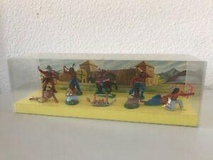 10 DDR Indianer Anton Röder Lisanto Diorama um 1965/70 Org. Verkaufsverpackung!3