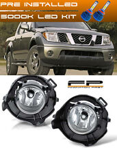 For 05-09 Nissan Frontier Clear LED Replacement Fog Light Housing Assembly Pair