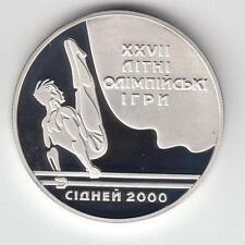 UKRAINE 1999 10 UAH 1oz SILVER PROOF COIN Sydney 2000 Olympic Games/Parallel Bar