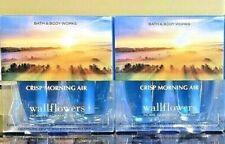 4 Bath and Body Works 🍂💛 CRISP MORNING AIR 💛🍂 Wallflower Plug In Refill Bulb