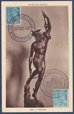 FRANCE N°538 x 2, CARTE MAXIMUM 1942 Mercure Obl Sp 10-42 Maxi Card