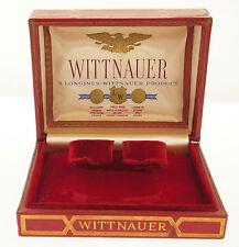 WITTNAUER Longines fasto Astuccio/BOX 1950erj. - ROSSA ECOPELLE-VELLUTO & Seta
