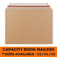 More details for capacity book mailers cardboard royal mail pip large letter size envelopes a4 a5