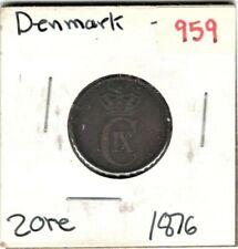 Denmark, 2 Ore 1876 (VF)  #959
