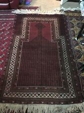 Antique/vintage Baluch Handmade Tribal Prayer Rug.... One of a Kind Gorgeous!
