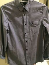 FRED PERRY Mens Long Sleeve Shirt Size S