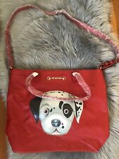 love moschino i love puppy pvc leather handbag purse crossbody dog logo NWOT