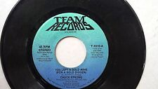 SOUTHERN SOUL BLUES 45: CHUCK STRONG You Left a Gold Mine HENSE POWELL