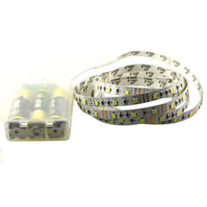 3528 3* AA Battery powered led strip flexible light ribbon tape 1m/2m/3m/4m/5m