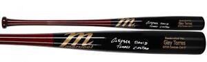GLEYBER TORRES Autographed Full Name Yankees Game Model Bat FANATICS
