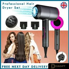 2000W Professional Style Hair Dryer Nozzle Concentrator Blower Pro Salon Heat UK