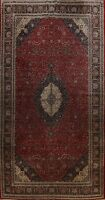 Traditional Floral RED Royal Kashaan Palace Oriental Hand-knotted Wool Rug 12x20