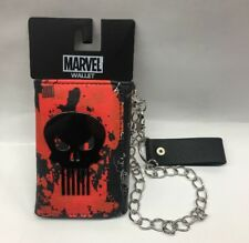 Marvel Men's Punisher Trifold Wallet With Chain