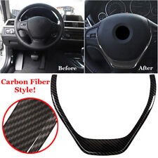 Interior Carbon Fiber Steering Wheel Cover Trim For BMW 3 4 Series F30 F31 F32