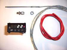 Abgastemperatur Anzeige SET WEIß + ALARM 24V Volt EGT Gauge Temperatur Pyrometer