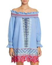 NWT Red Carter Monroe Embroidered Chambray Off Shoulder Dress Swim Cover Up XS