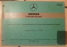 Mercedes Unimog Motoren OM312 / OM352 Ersatzteilkatalog
