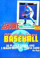 1989 Score Baseball Unopened Cello Packs!  WE COMBINE! ⚾ CSV