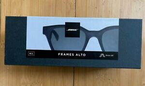 New! Bose - Frames Alto — Classic Angular Bluetooth Audio Sunglasses - Black S/M