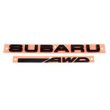 OEM 2016 Subaru WRX STi Black Rear Trunk Emblem Letter Nameplate NEW 93079VA180