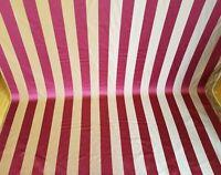 "Designer Brocade Jacquard Fabric- Burgundy - Upholstery striped fabric 58"""