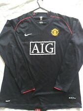 MANCHESTER UNITED MENS LONG SLEEVE NIKE AIG FOOTBALL SHIRT TOP JERSEY HARGEAVES