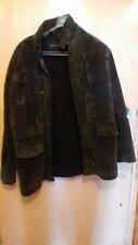 """Mens suede jacket size large 44"""" with felt lining buy now price was £70 now £55."""