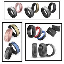 Ikonfittness Silicone Wedding Ring Men Women Engagement Rubber Band Gym Flexible