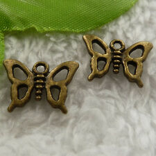 free ship 200 pieces bronze plated butterfly charms 16x12mm #4117