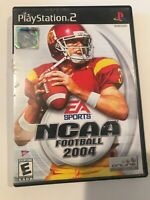 NCAA College Football 2004 -  Playstation 2 PS2 video game Case Manual Disc