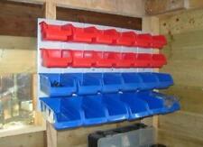 Plastic Storage Bins Steel Back Tool DIY Parts Organiser Boxes Garage Workshop