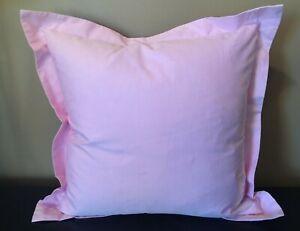 "RALPH LAUREN Luxury Oxford DECORATOR PILLOW Cotton PINK 18"" Square MSRP $115 NWT"