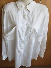 Asos Blanco de la Blusa, Camisa De Mujer Talla 12