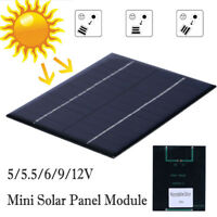 5/5.5/6/9/12V Solar Panel Module System Home Decor for Cells Phone Charger DIY