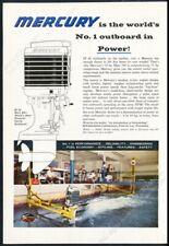 1960 Mercury outboard boat motor 800 photo vintage print ad