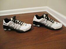 Used Worn Size 10.5 Nike Shox NZ EU Shoes White Black Silver