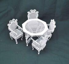"Garden Table & Chairs Set  dollhouse miniature furniture 1/12"" scale AL007"