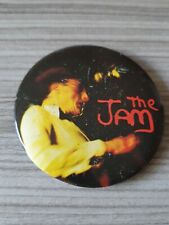 More details for vintage 62mm 1970s/80s the jam badge tin mods punk music badge the jam badge