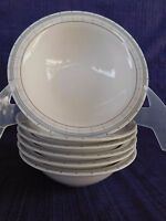 Martha Stewart MTW22 Brown & Blue Lines CEREAL BOWL 1 of 6 , have more items