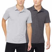 NWT 32 Degrees Mens Short Sleeve Performance Polo 2-Pack XL / XXL Gray & Black