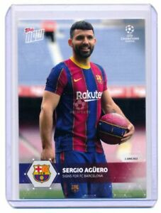 2021 Topps Now UEFA Champions League #PS01 Sergio Agüero Signs For FC Barcelona